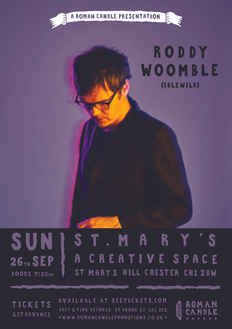 This Sunday we welcome Roddy Woomble (Idlewild) back to St Mary's Creative Space!