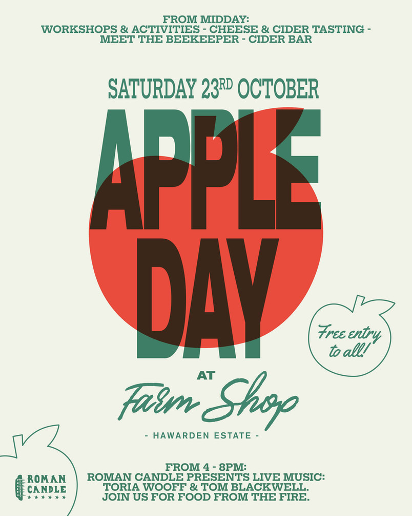 Join us this Saturday at Hawarden Estate Farm Shop for their fantastic 'Apple Day' event!