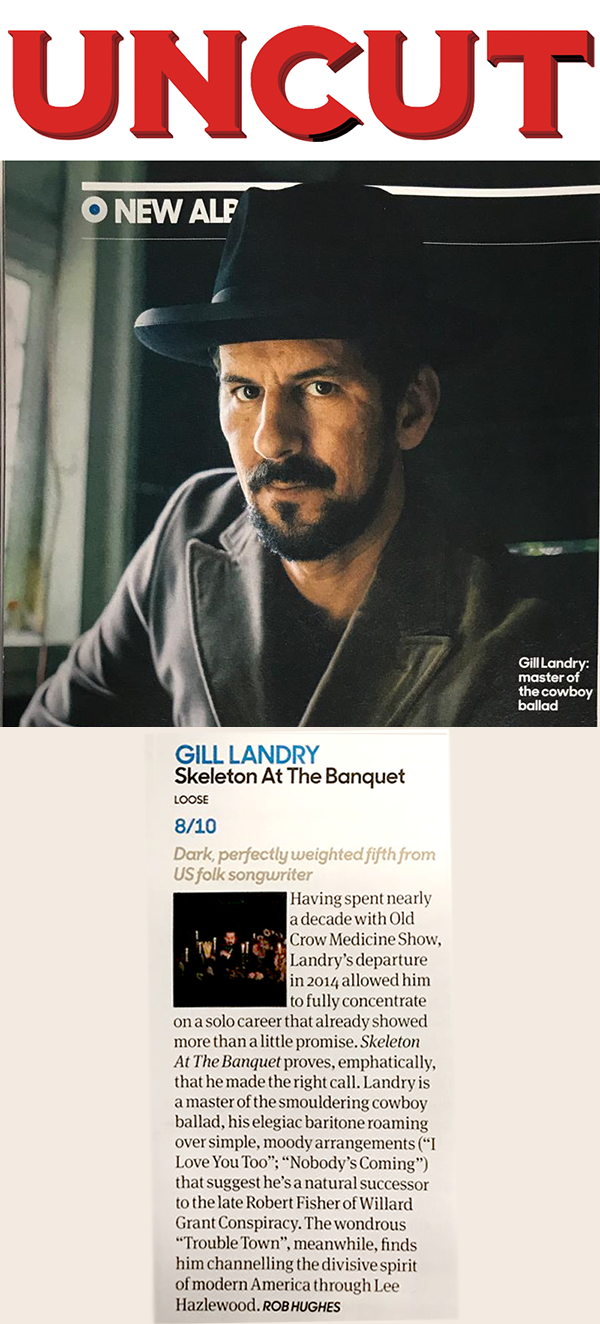 Check out this brilliant review of Gill Landry's new album 'Skeleton at the Banquet' by