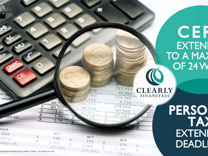 CERB Extended from 16 Weeks to 24 Weeks and Personal Tax Deadline Extensions