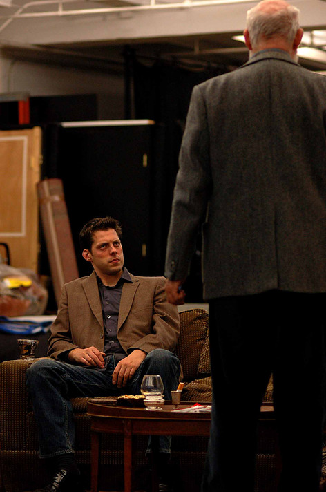 In rehearsal with director Anthony Page