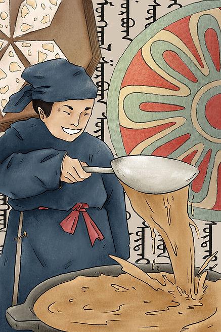 Traditional-Mongolian salted milk tea