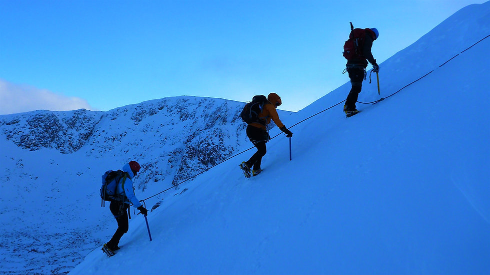 Scottish Winter Mountaineering course, Cairngorm, Aviemore Scotland
