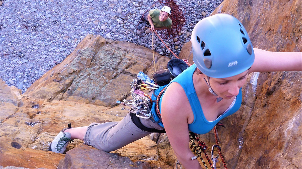 Learn to lead rock climbing courses and guiding