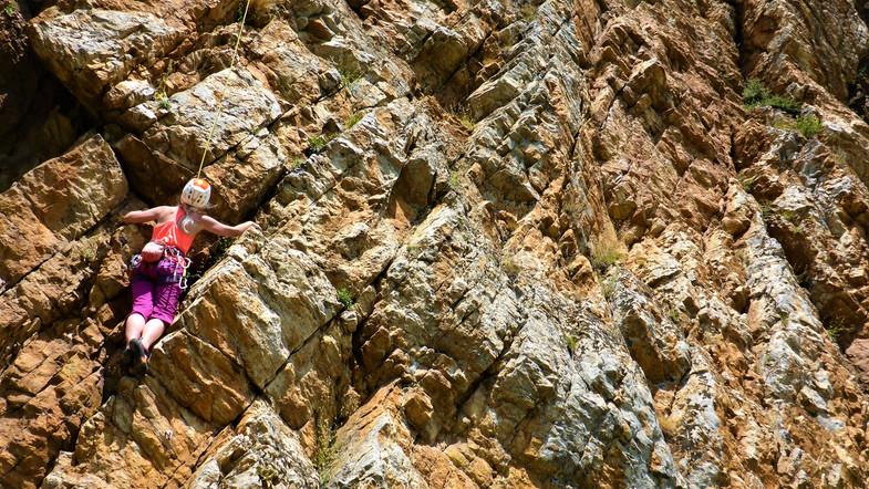 Hot Rock Climbing
