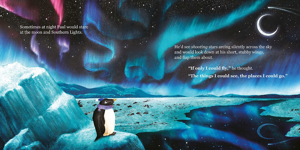 Southern Lights Paul the penguin