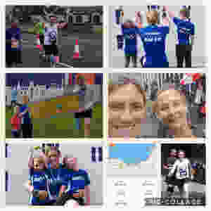 Sonia running for SSCB Edinburgh Marathon 2019