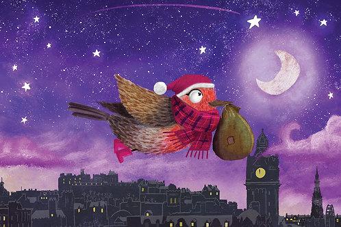 Edinburgh Skyline - Christmas Cards