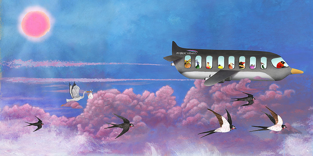 Children's illustrated book artwork
