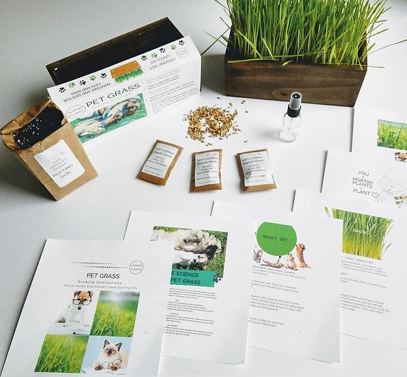 100% Organic Pet Grass Seed Kit