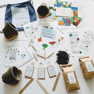 Kids organic gardening kit. science kit. educational games. learning games.