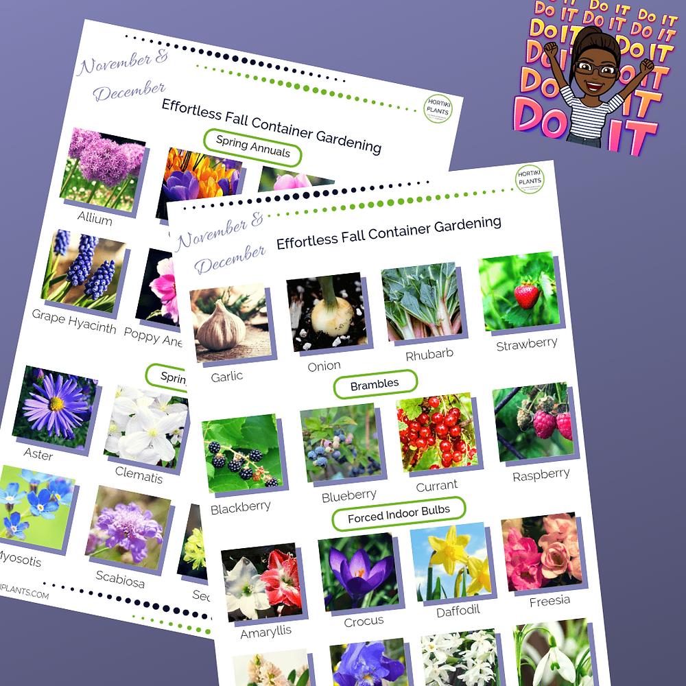 Fall gardening guide. November/December planting list