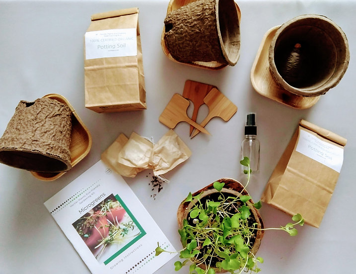 Organic Microgreens Container Garden Kit