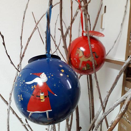 Palla Natale con tisana in filtro