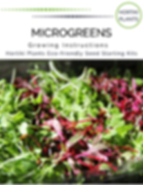 Microgreens Garden  Growing Instructions