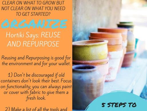 5 Steps to Simplify Your Garden Prep Steps 4&5: Organize & Budget