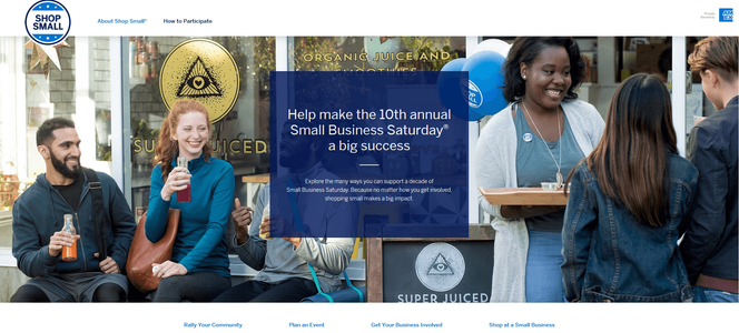 Small Business Saturday Image from AMEX