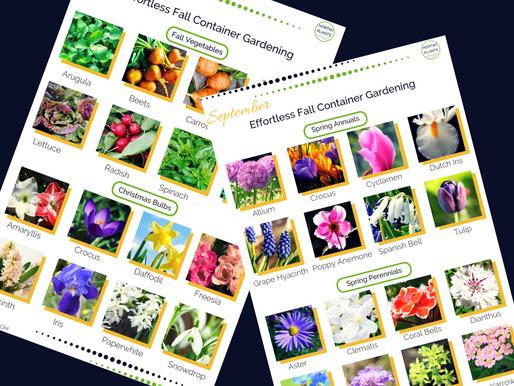 September Edible Gardening and Flower Gardening Guide
