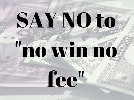 The difference between bossed and 'no win no fee' organisations