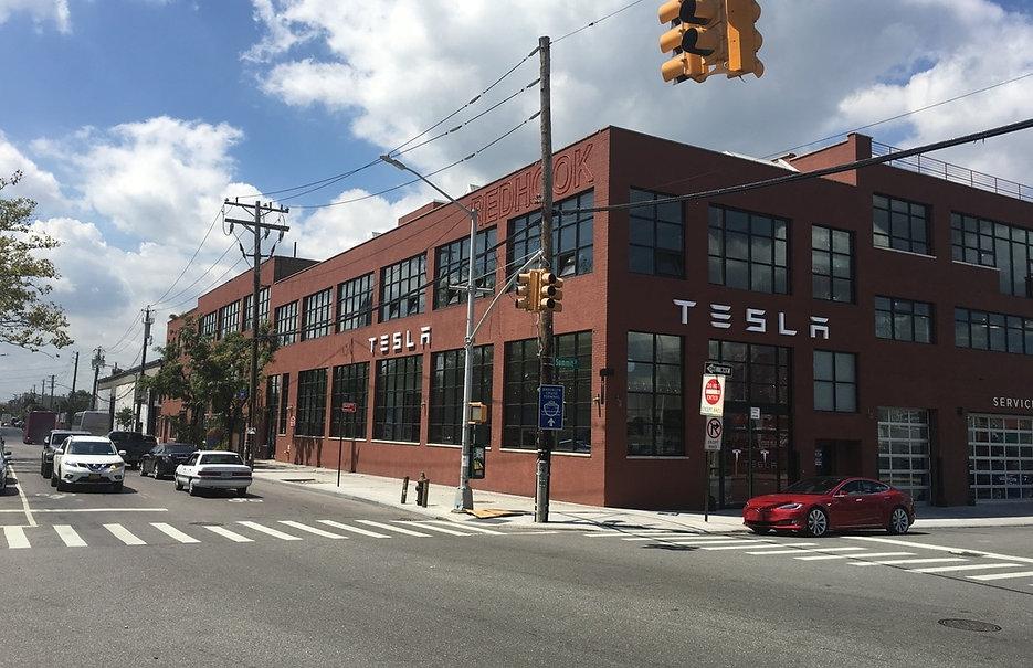 Outsde of Tesla office