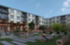 Apartment Building Courtyard - Linden, NJ