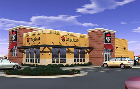 Rendering of a Pizza Hut Designed by John Saracco