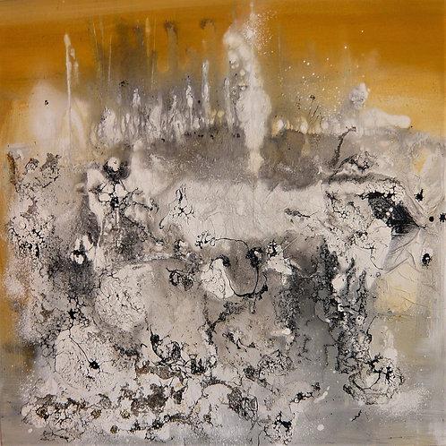 Acryl mit Teer 60x60 cm