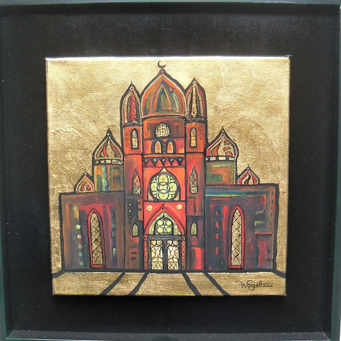 Acryl Blattgold 40x40 cm