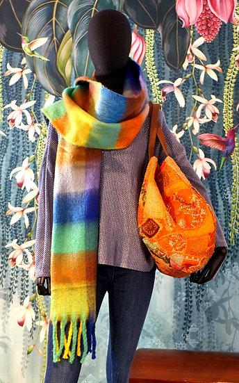 Echarpe multicolore