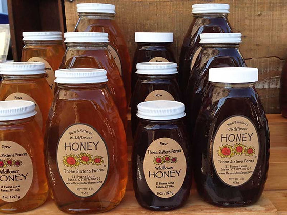 Raw Honey - 5 lb jug or jar
