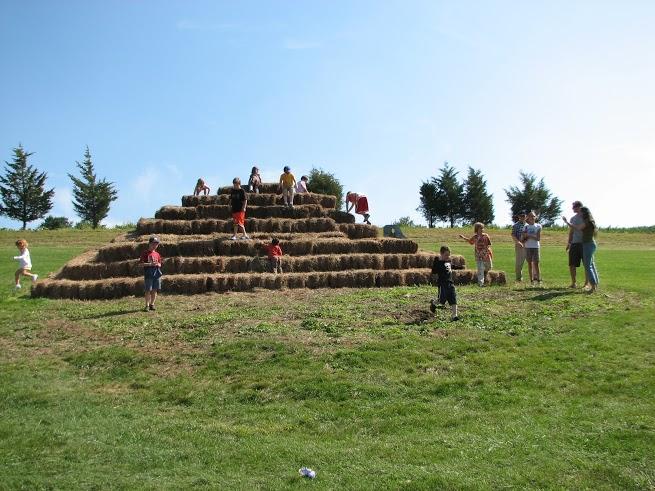 Hay Bale Pyramid