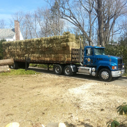 One of our trucks with hay delivery