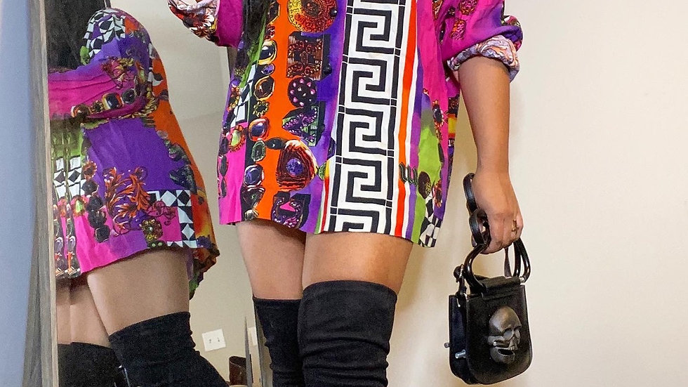 Vintage maze blouse size XL