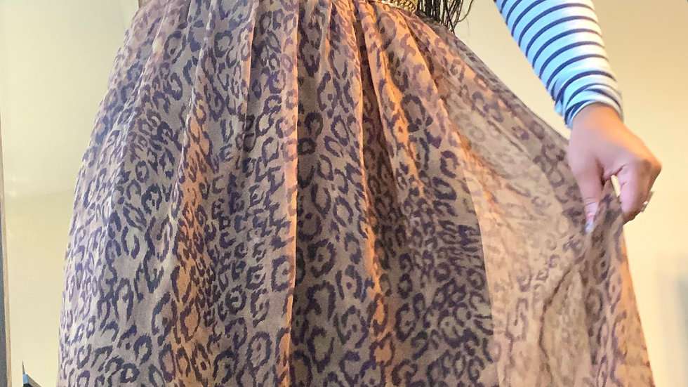 Leopard tulle skirt size Large