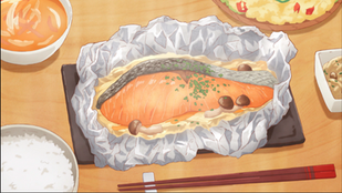 """Crunchyroll #81: Salmon in Foil from """"Today's Menu for the Emiya Family"""""""