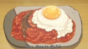 Crunchyroll #7: Hamburger Steak from Sweetness and Lightning
