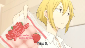 Crunchyroll #6: Strawberry Melon Pan from Tanaka-kun is Always Listless