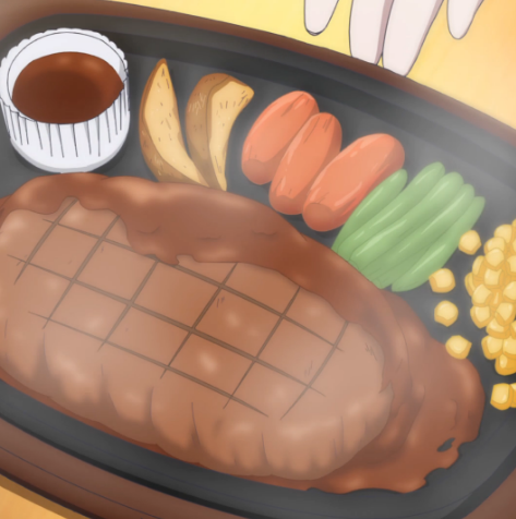 Crunchyroll #62: Cheese Filled Hamburger Steak