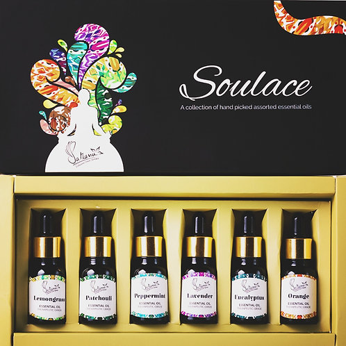 Soulace - Set of top 6 Essential Oils