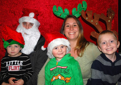 Family at the Holiday Photo Booth