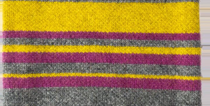 TN203 – Trapper Retro Neck Gaiter (Citron / Grey / Purple)