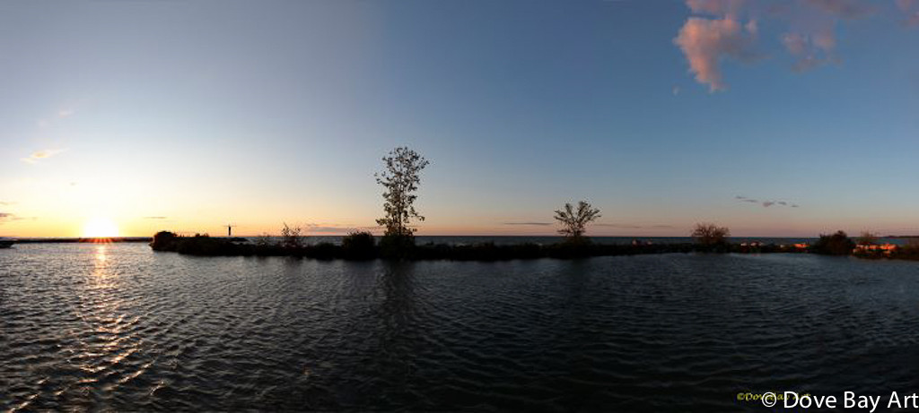 Belle River Sunset Panorama