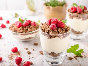 Nejen valentýnské potěšení: Tvarohový dezert s granolou