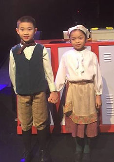 Jonathan Leung and Michelle On in Fiddler on the Roof, Jr.