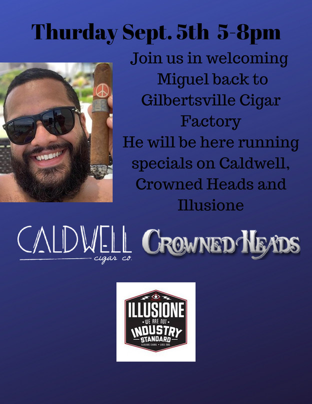 Caldwell, Crowned Heads, and Illusione Event Thursday Sept. 5th