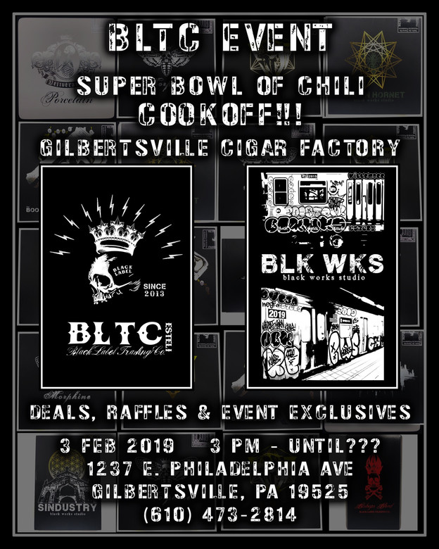 2nd Annual Super Bowl of Chili Cook-off w/ Black Works Studio and Black Label Trading Co.