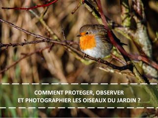 COMMENT PROTEGER, OBSERVER ET PHOTOGRAPHIER LES OISEAUX DU JARDIN ?