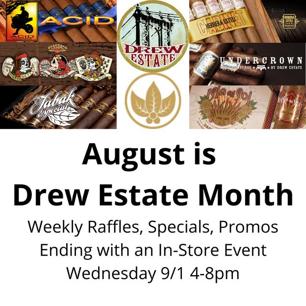 August is Drew Estate Month