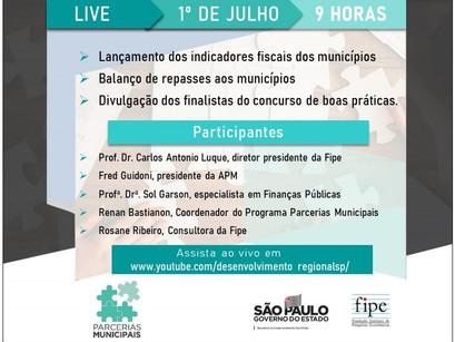 Live no dia 1/7 apresenta novo módulo de indicadores fiscais