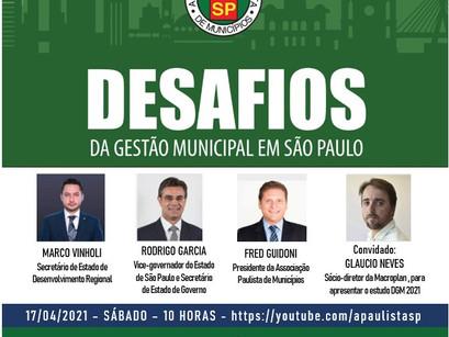 Reunião virtual destaca os desafios da Gestão Municipal em São Paulo